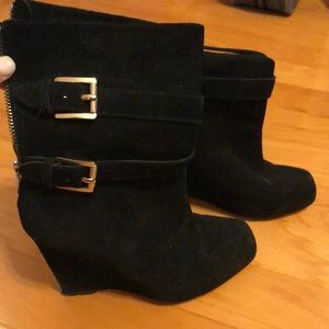 Michael Kors, black wedge boots